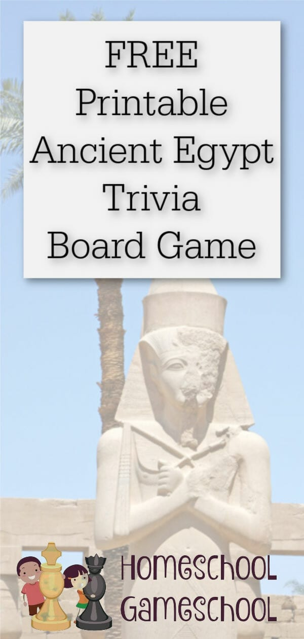 Free printable Ancient Egypt Board Game - Gameschooling at HomeschoolGameschool.com