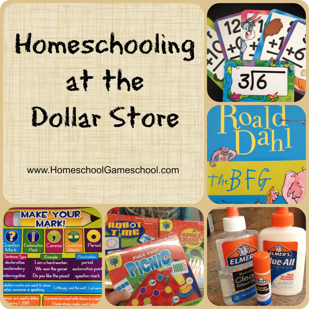 Homeschooling at the dollar store