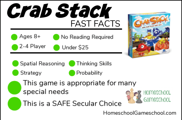 Crab Stack Game Review - Gameschooling & Secular Homeschooling at HomeschoolGameschool.com