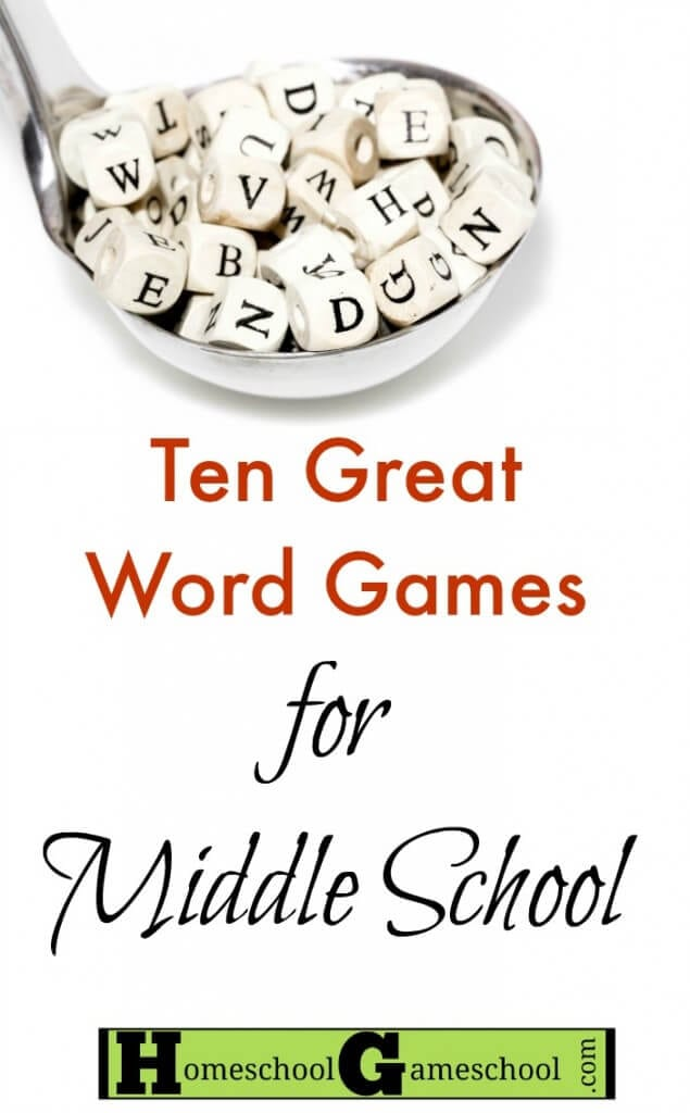 Word Games for Middle Schoolers ages 10-15