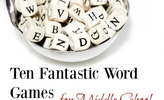 Word Games for Middle Schoolers age 12-15
