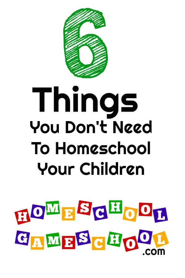 Things You Don't Need to Homeschool