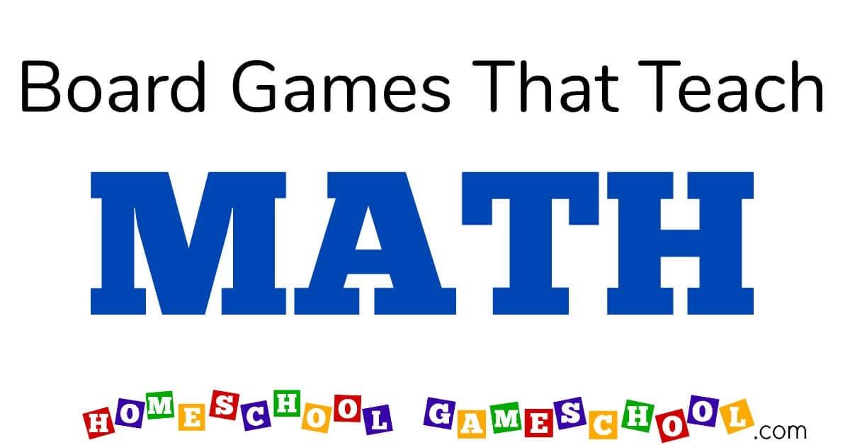 Board Games For Math Gameschool Academy