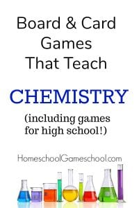 Board Games for Chemistry - Gameschooling