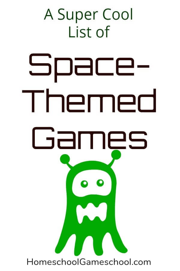 Space Themed Games - Gameschooling at Homeschool Gameschool, a secular homeschooling blog