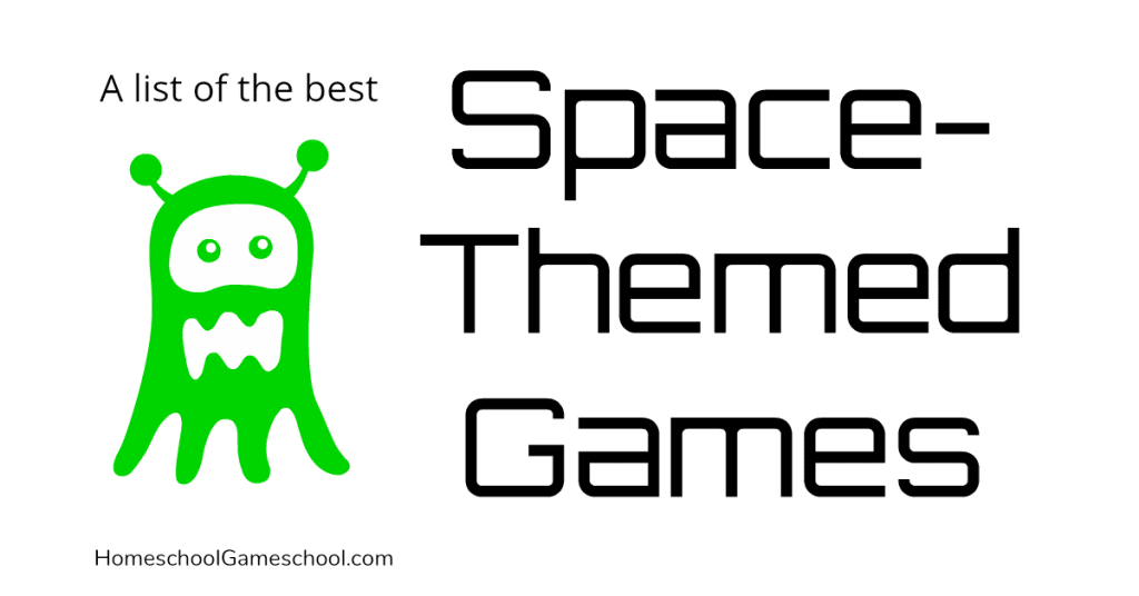 Space Themed Games - Gameschooling at Homeschool Gameschool, a secular homeschool blog