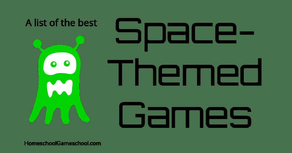 Space Themed Games - Gameschooling at Homeschool Gameschool, a secular homeschool blog