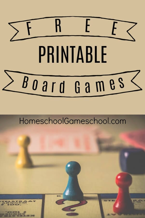 photo about Printable Board Games titled Absolutely free Printable Board Game titles » Homeschool Gameschool
