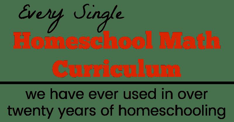 Homeschool Math Curriculum Reviews