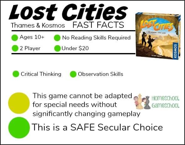 Lost Cities Card Game Review - Gameschooling at HomeschoolGameschool.com