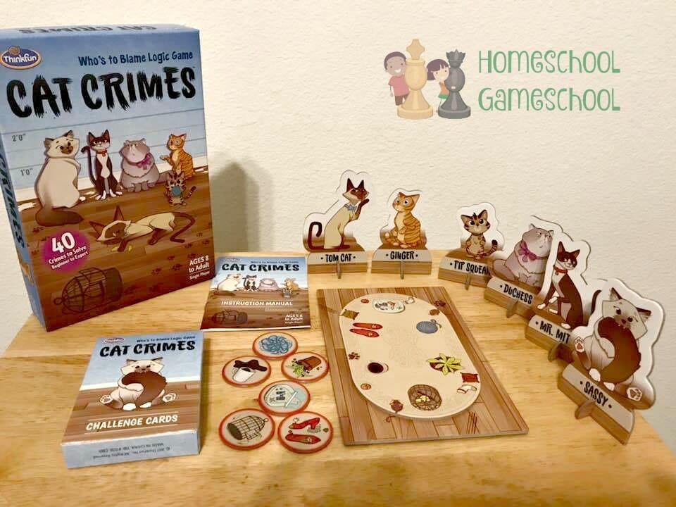 Cat Crimes Game Review - Gameschooling at HomeschoolGameschool.com