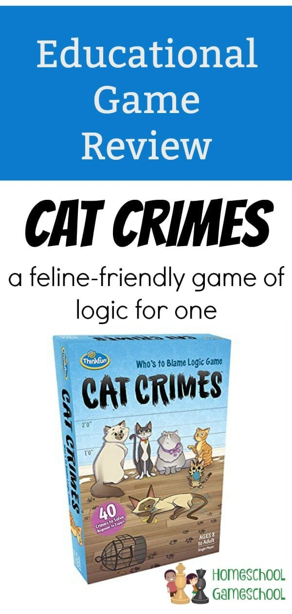 Cat Crimes Game Review - Gameschooling at HomeschoolGameschool.com