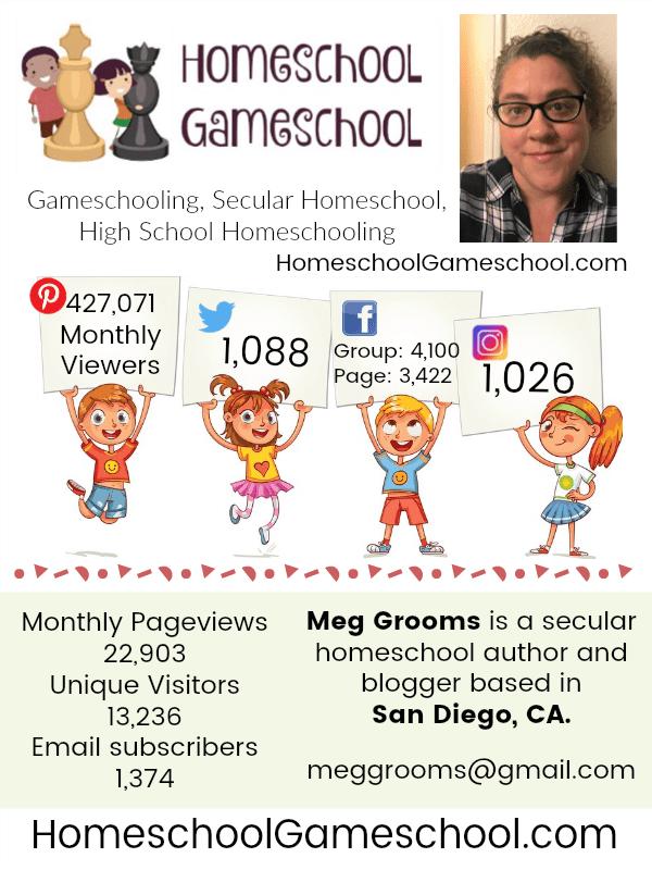 Homeschool Gameschool, Gameschooling & Secular Homeschooling Media Kit Contact Information