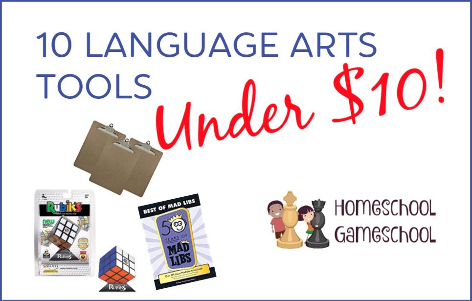 Language Arts Tools Under $10 - Secular Homeschooling @ HomeschoolGameschool.com