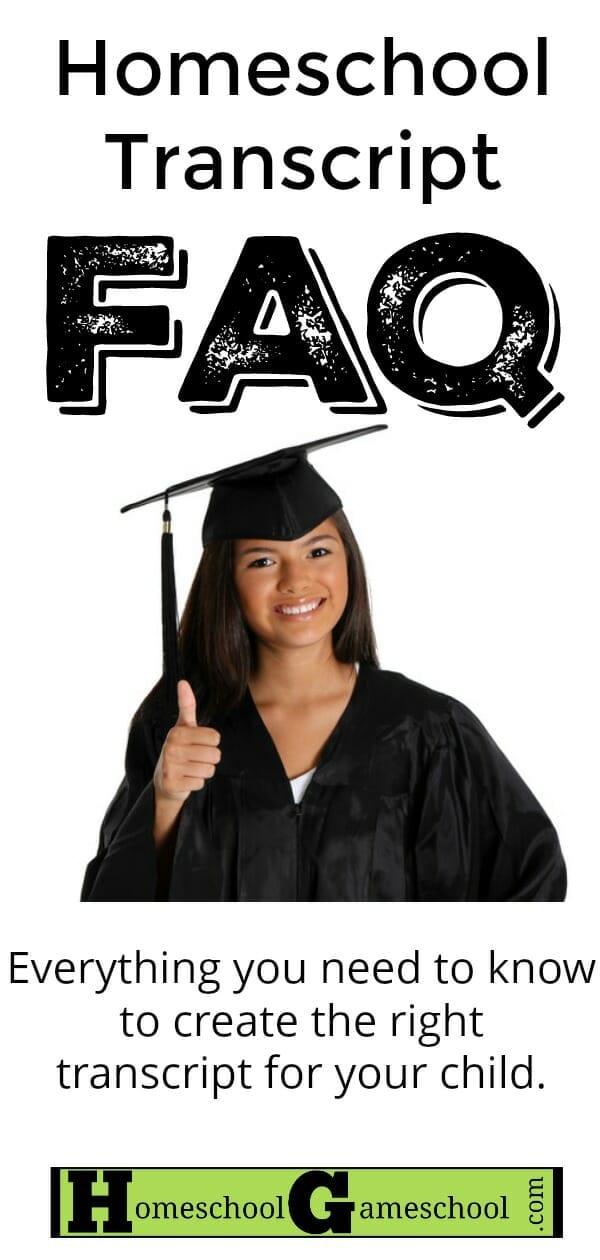Homeschool Transcript FAQ