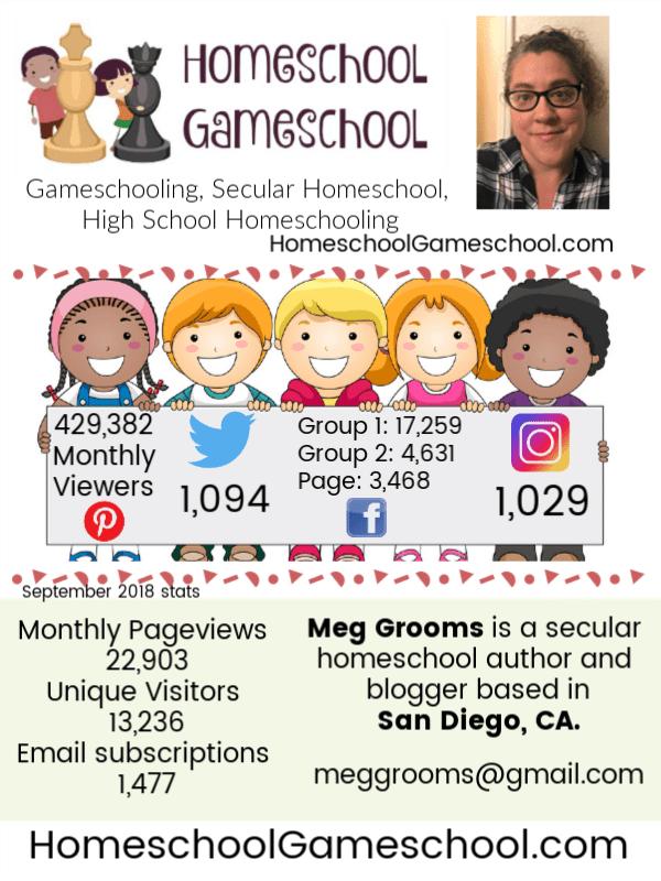 Homeschool Gameschool Media Kit, Gameschooling & Secular Homeschooling