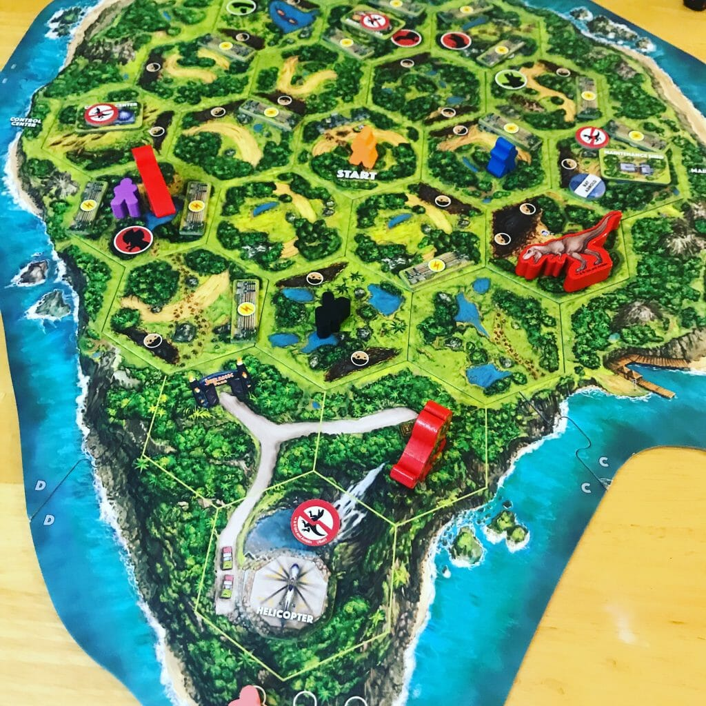 Jurassic Park Danger Game Review - Gameschooling & Secular Homeschool @ HomeschoolGameschool.com