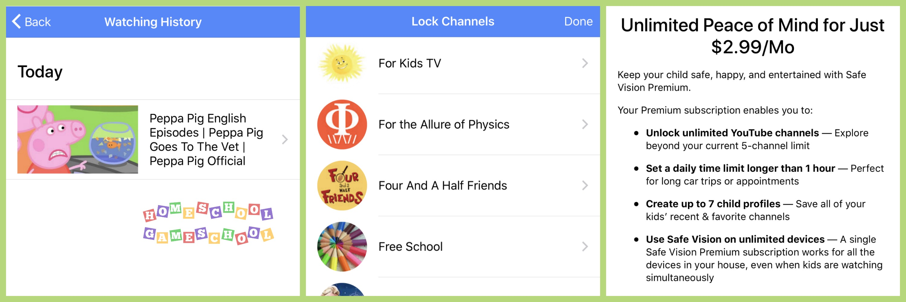 Safe Vision YouTube & YouTube Kids Monitoring App, Gameschooling & Secular Homeschooling & HomeschoolGameschool.com