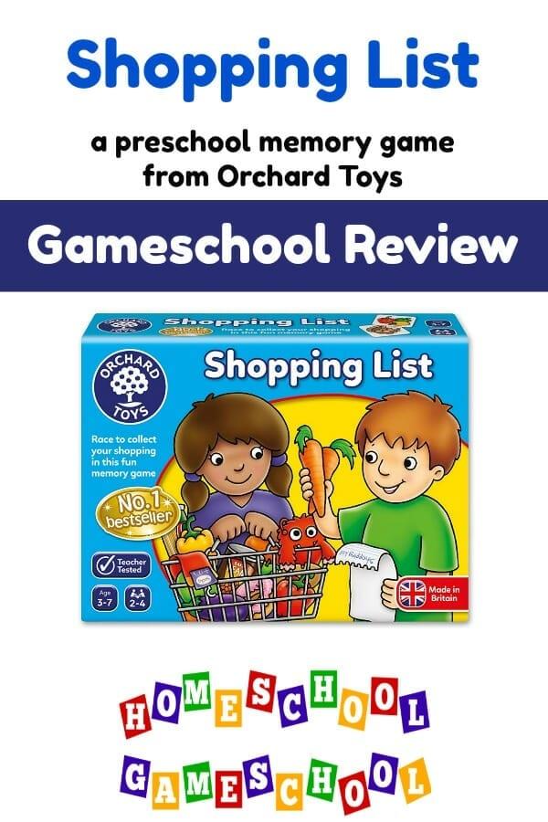 Shopping List Preschool Memory Game Review, Gameschooling & Secular Homeschool @ HomeschoolGameschool.com