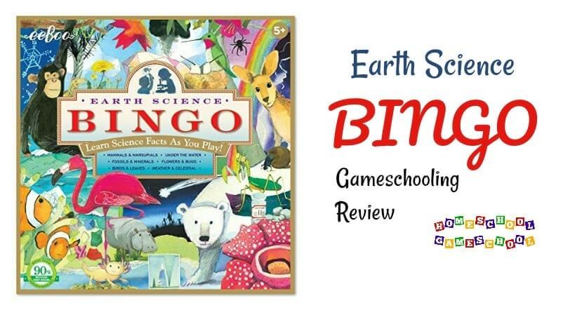 Earth Science Bingo Review, Gameschooling & Secular Homeschooling @ HomeschoolGameschool.com