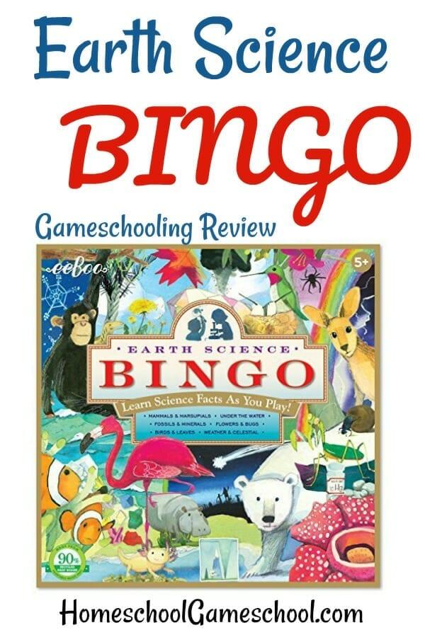 Earth Science Bingo, Gameschooling & Secular Homeschooling at HomeschoolGameschool.com