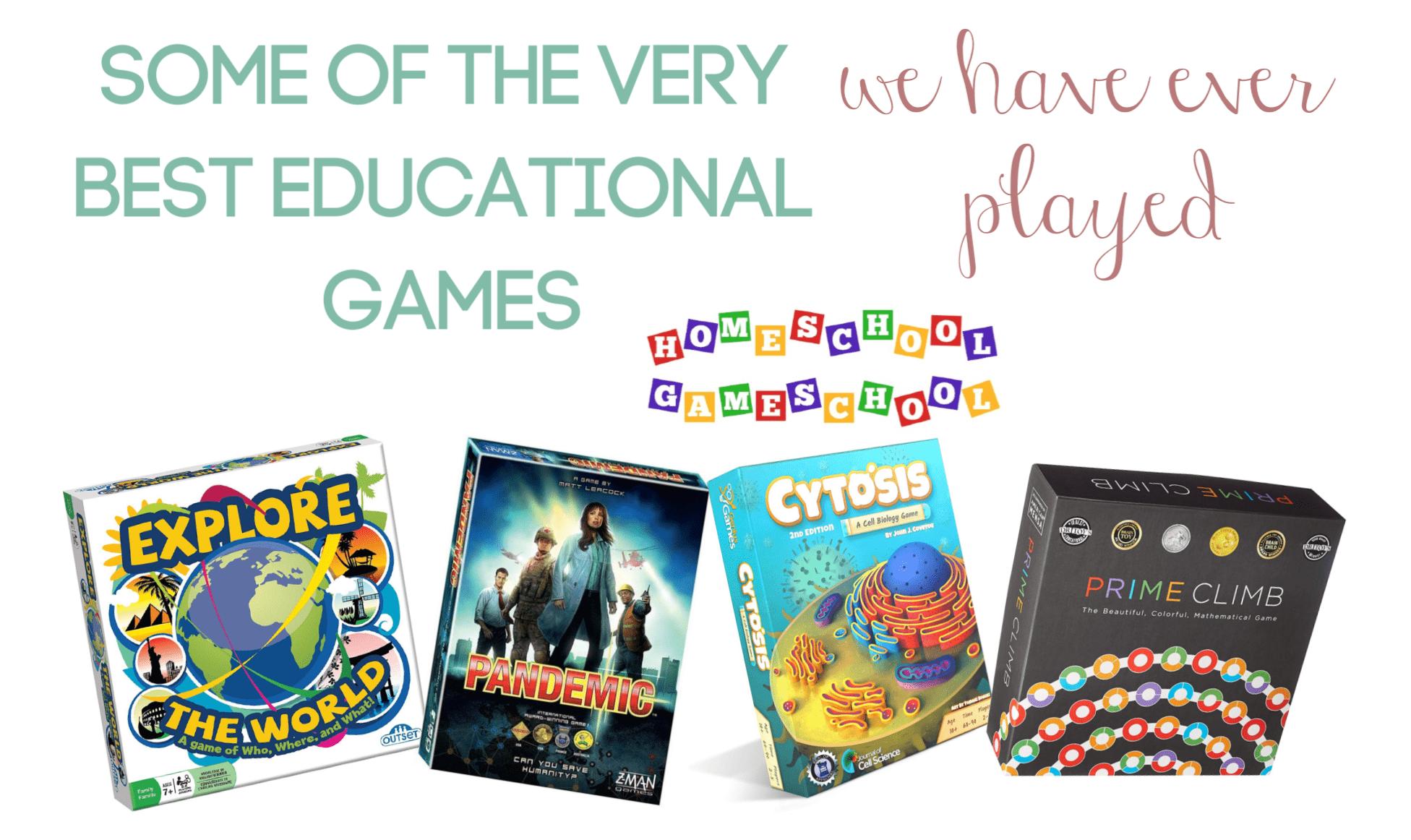 The Very Best Educational Games . - Gameschooling @ HomeschoolGameschool.com