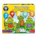 Frog Party Orchard Toys Game, Gameschooling & Secular Homeschooling @ HomeschoolGameschool.com