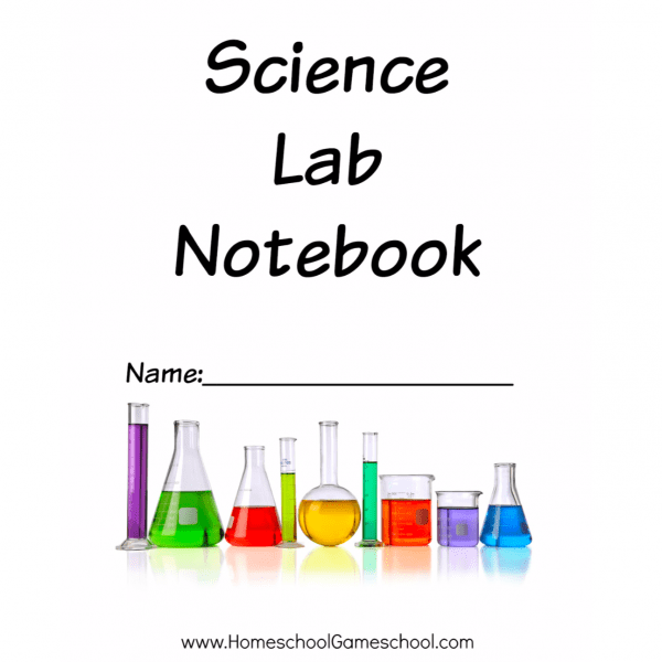 Printable Science Lab Notebook Cover - HomeschoolGameschool.com