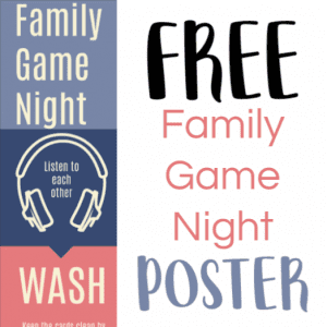 Free printable Family Game Night Etiquette Poster - Game Etiquette Poster - Gameschooling @ HomeschoolGameschool.com