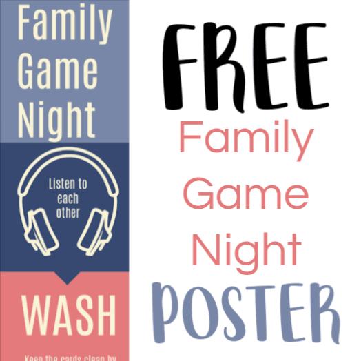 Free printable Family Game Night Etiquette Poster - Game Etiquette Poster - Gameschooling @ HomeschoolGameschool.com