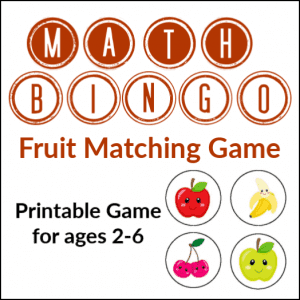 Math Bingo Go for Prechool, Toddlers, and Early Elementary - Gameschooling @ HomeschoolGameschool.com