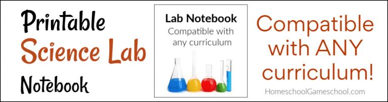 Printable Science Lab Notebook