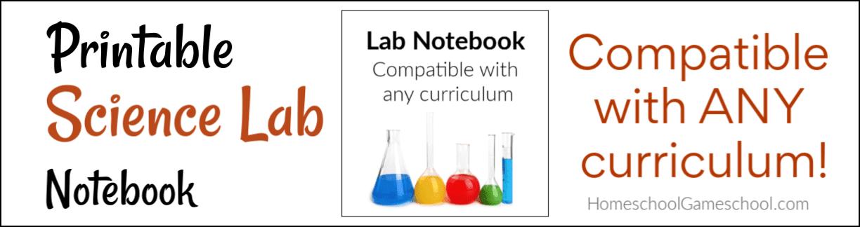 Printable Science Lab Notebook - HomeschoolGameschool.com