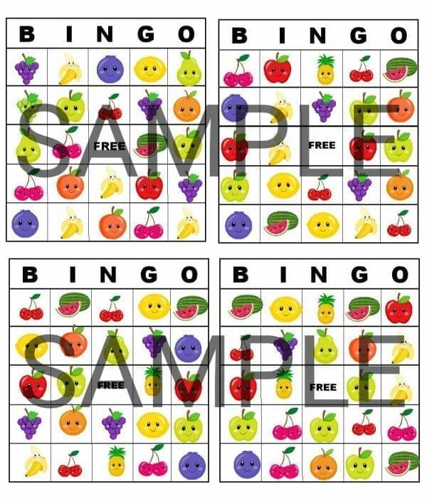 Fruit Matching Bingo, Game for Preschool, Game for toddlers, game for kindergarten - Gameschooling @ HomeschoolGameschool.com