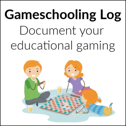 Gameschooling Log & Notebook, Educational Gaming - HomeschoolGameschool.com