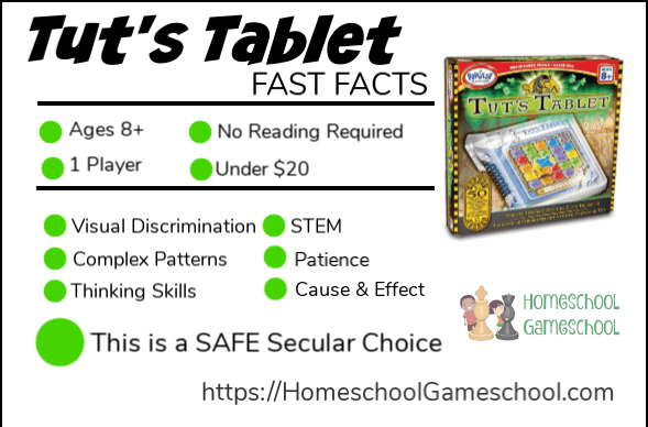 Tut's Tablet Puzzle Game Review - Gameschooling at HomeschoolGameschool.com