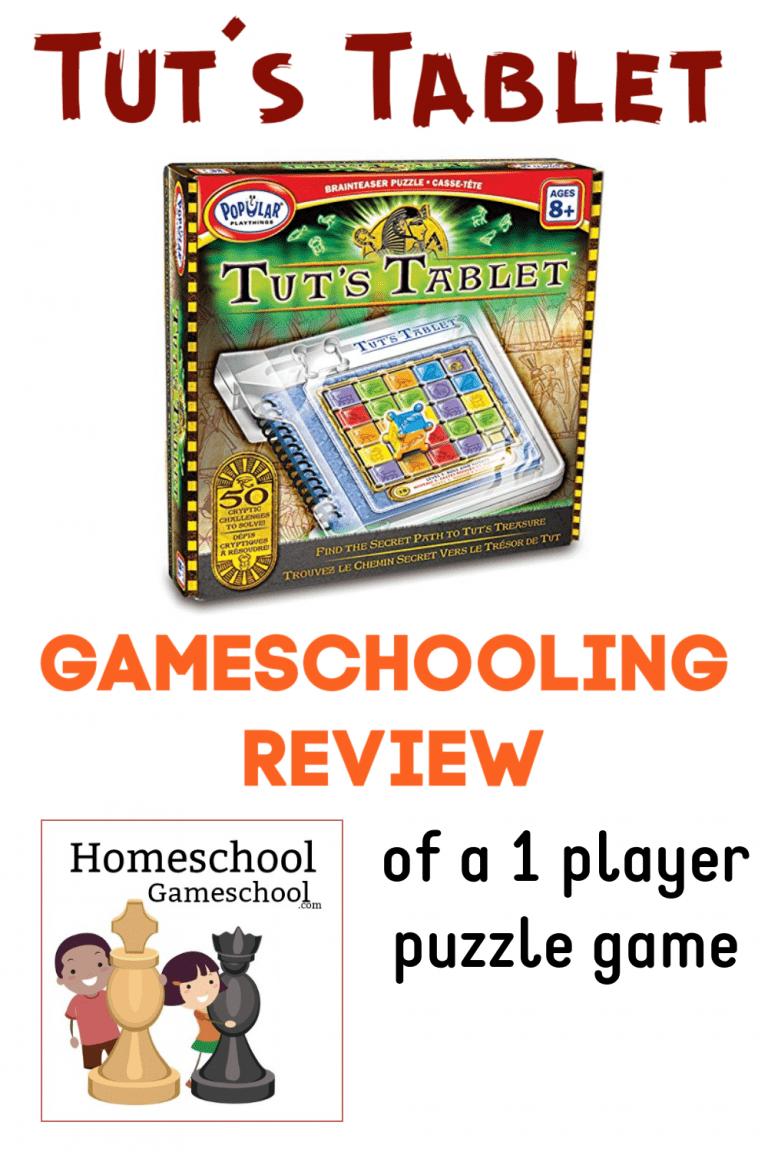Tut's Tablet Review - Gameschooling & Secular Homeschooling at HomeschoolGameschool.com