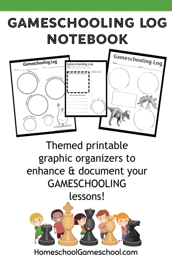 Deluxe Gameschooling Documentation Log - Make any game educational & document your gaming for portfolios!
