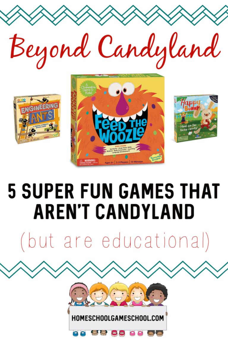 5 Preschool games that aren't Candyland - Gameschooling @
