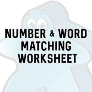 Free number word matching worksheet