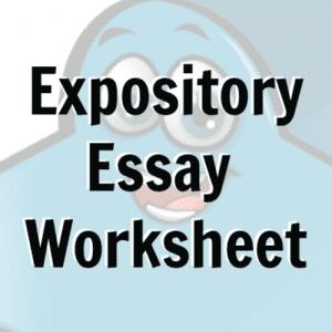 Free printable expository essay worksheet