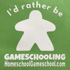 Gamescholing bumper sticker, HomeschoolGameschool.com - Homeschool bumper sticker