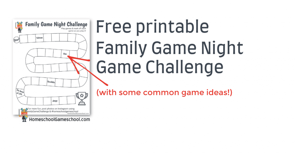 Family Game Night Challenge - HomeschoolGameschool.com