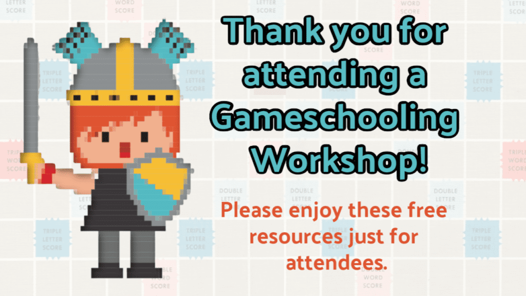 Free gameschooling resources