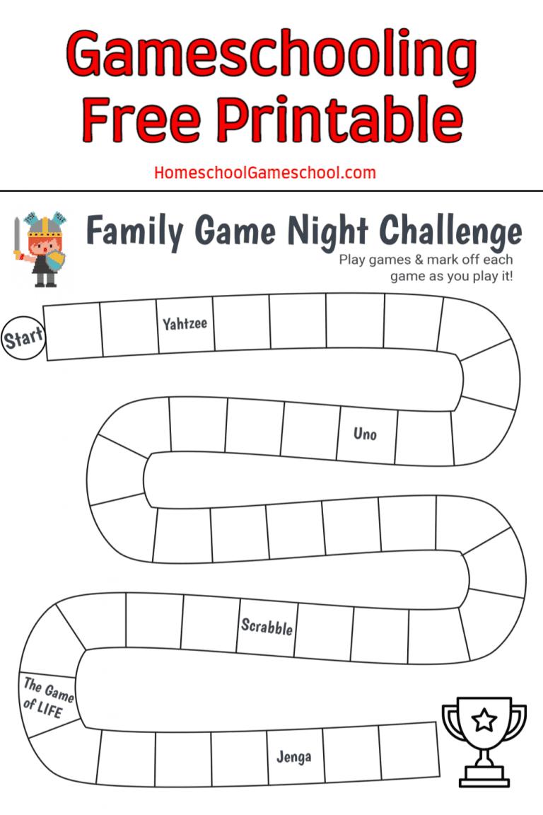 Family Game Night Challenge - HomeschoolGameschool.com