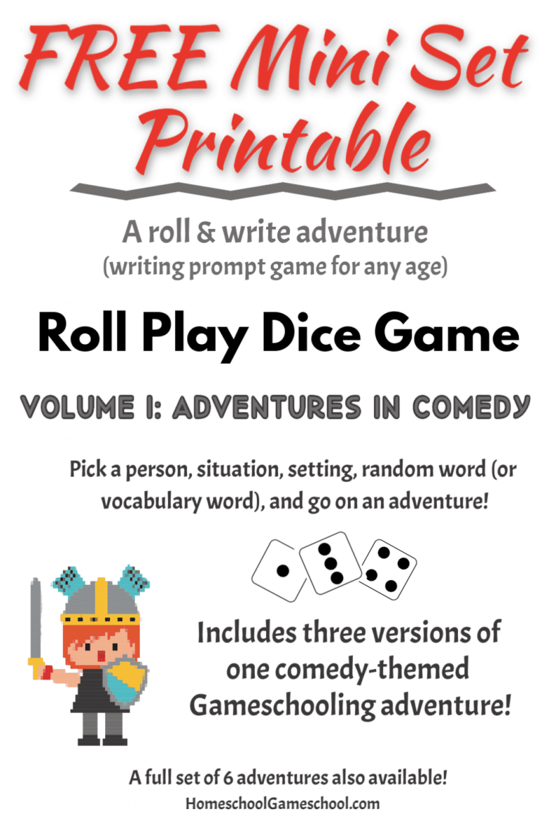 Free printable write & roll game