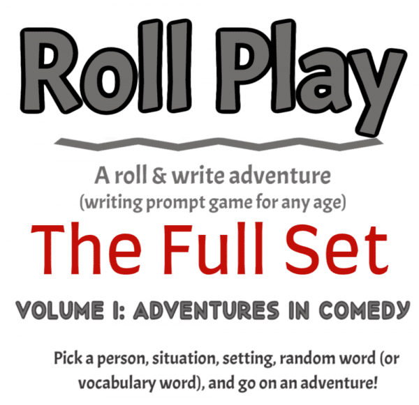 Roll Play vol.1 Printable Roll & Write Game