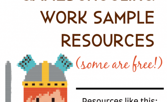 Printable Gameschooling Work Sample Resources