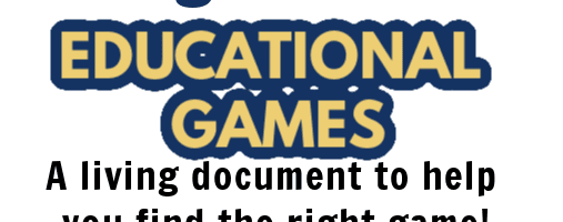 Huge List of Educational Games