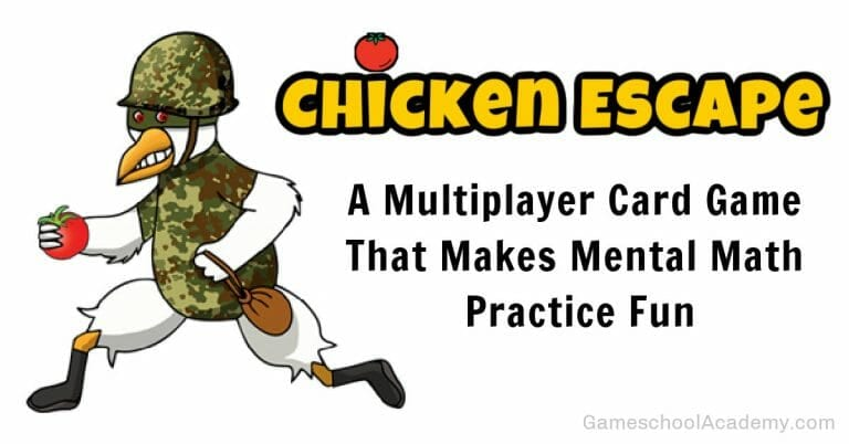 Chicken Escape, a mental math game that's perfect for Gameschooling!